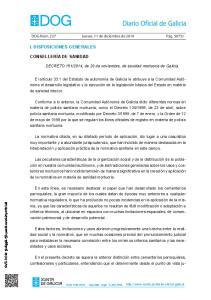 2014, de 20 de noviembre, de sanidad mortuoria de Galicia