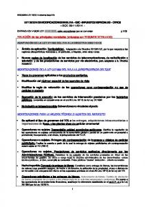 2014 DE MODIFICACIONES EN EL IVA IGIC IMPUESTOS ESPECIALES OTROS BOE