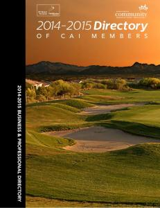 2014 Diamond Plus Sponsor Directory BUSINESS & PROFESSIONAL DIRECTORY