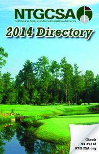 2014 Directory. Check us out at NTGCSA.org