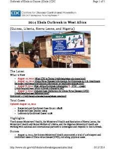 2014 Ebola Outbreak in West Africa