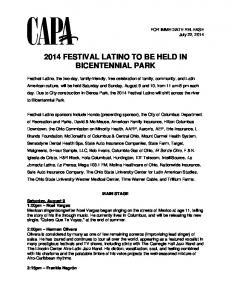 2014 FESTIVAL LATINO TO BE HELD IN BICENTENNIAL PARK