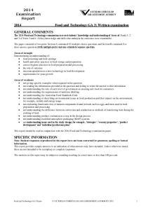 2014 Food and Technology GA 3: Written examination