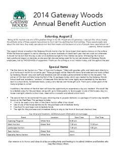 2014 Gateway Woods Annual Benefit Auction