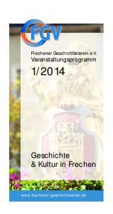 2014. Geschichte & Kultur in Frechen