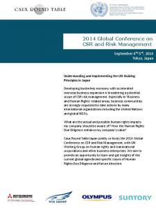 2014 Global Conference on CSR and Risk Management