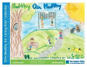 2014 Healthy Air Living Kids Calendar