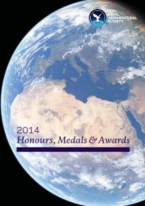 2014 Honours, Medals & Awards