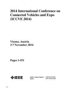 2014 International Conference on Connected Vehicles and Expo (ICCVE 2014)
