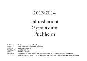 2014 Jahresbericht Gymnasium Puchheim