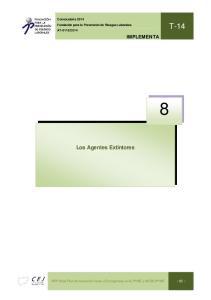 2014. Los Agentes Extintores