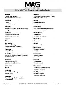 2014 Mid-Year Conference Attendee Roster