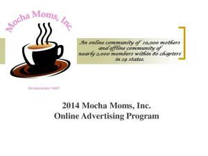 2014 Mocha Moms, Inc. Online Advertising Program