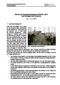 2014 nach Stuttgart und Karlsruhe