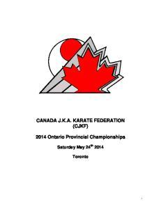 2014 Ontario Provincial Championships