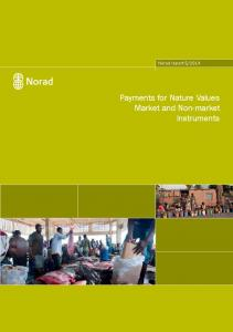 2014. Payments for Nature Values Market and Non-market Instruments