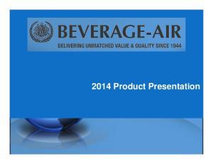2014 Product Presentation