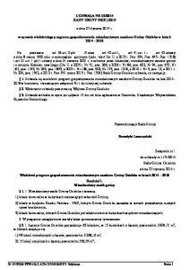 2014 RADY GMINY OSIELSKO. z dnia 27 stycznia 2014 r