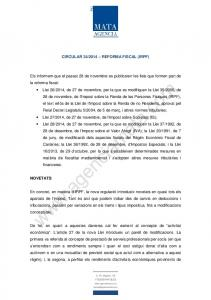 2014 REFORMA FISCAL (IRPF)