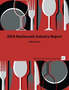 2014 Restaurant Industry Report FEBRUARY 2015