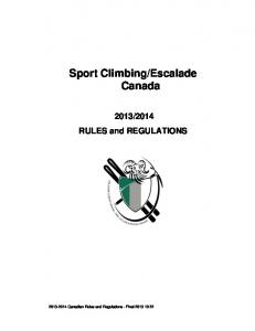 2014 RULES and REGULATIONS