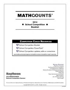2014 School Competition Booklet