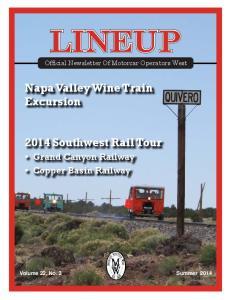 2014 Southwest Rail Tour