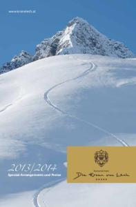 2014 Spezial-Arrangements und Preise