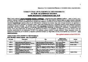 2014 studia stacjonarne i niestacjonarne spec. ILB