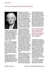 [2014] (Summer) Bar News 76 Bar News : The Journal of the New South Wales Bar Association
