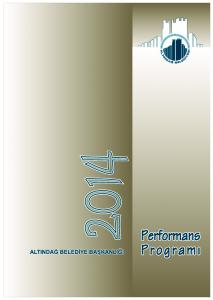2014 YILI PERFORMANS PROGRAMI