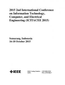 2015 2nd International Conference on Information Technology, Computer, and Electrical Engineering (ICITACEE 2015)