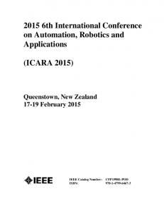2015 6th International Conference on Automation, Robotics and Applications (ICARA 2015) Queenstown, New Zealand February 2015