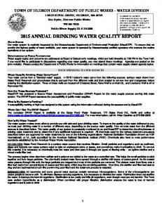 2015 ANNUAL DRINKING WATER QUALITY REPORT