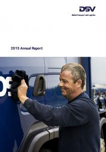 2015 Annual Report. Global Transport and Logistics