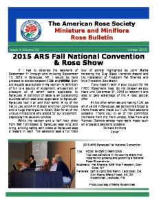 2015 ARS Fall National Convention & Rose Show
