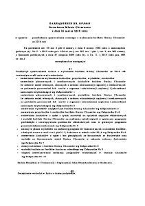 2015 Burmistrza Miasta Chrzanowa z dnia 23 marca 2015 roku