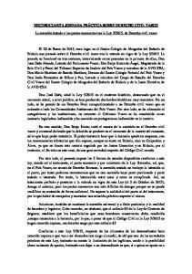 2015, de Derecho civil vasco