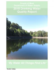 2015 Drinking Water Quality Report