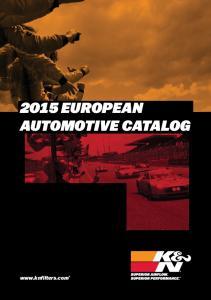 2015 EUROPEAN AUTOMOTIVE CATALOG