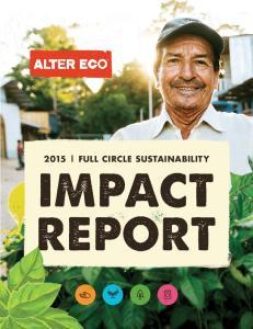 2015 FULL CIRCLE SUSTAINABILITY IMPACT REPORT