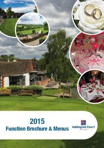 2015 Function Brochure & Menus