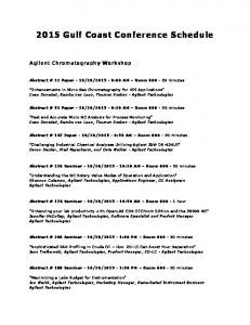 2015 Gulf Coast Conference Schedule