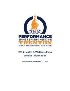 2015 Health & Wellness Expo Vendor Information