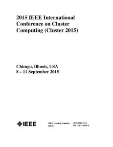 2015 IEEE International Conference on Cluster Computing (Cluster 2015)