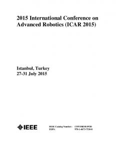 2015 International Conference on Advanced Robotics (ICAR 2015)