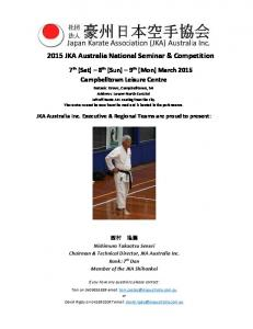 2015 JKA Australia National Seminar & Competition