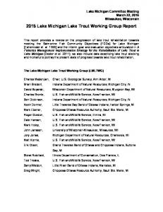 2015 Lake Michigan Lake Trout Working Group Report