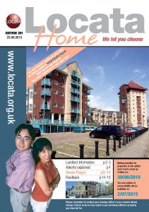 2015 Landlord Information p2-3 Adverts explained p4 Home Pages p5-14 Feedback p14-15