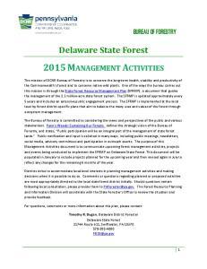 2015 MANAGEMENT ACTIVITIES